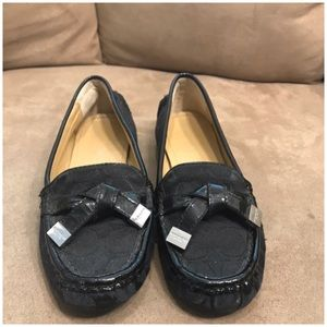 Coach Black Loafers size 5